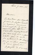 VP11.770 - Noblesse - LAS - Lettre De Mr Le Baron J. De WITT à PARIS - Autographs
