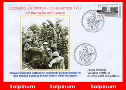 ANNULLO ANNIVERSARIO 100° BATTAGLIA DI CAPORETTO - 6. 1946-.. Repubblica