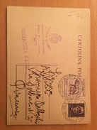 CARTOLINA POSTALE -FIORENZUOLA D'ARDA-PUACENZA-ALBERTO CAVIZZOLU-UFFICIALE GIUDIZIARIO - 1944-46 Lieutenance & Humbert II