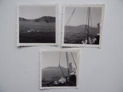 Vúng-Táu Cap-Saint-Jacques Viêt-Nam 3 Photos Du 24/05/1956 Militaire Navire Marine Guerre Indochine - Lieux