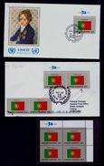 UNICEF Architecture Arts Flags Fdc UNITED NATIONS NY Drapeaux 1989+1999 PORTUGAL (3 Itens) Sp4966 - Variétés Et Curiosités