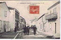CHARENTE-MARITIME - COURCON D'AUNIS - La Grande Rue ( Animation ) - Francia