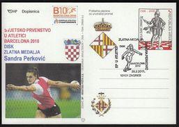 Croatia Zagreb 2011 / European Athletics Championship BARCELONA 2010 / Women Discus Gold Medal Winner Sandra Perkovic - Leichtathletik