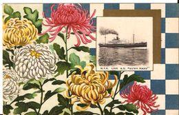 N.Y.K. LINE S.S. SUWA MARU JAPAN  +/- 1907 BLOEMEN  FLOWERS  R 224 /d1   Unposted - Paquebote
