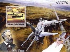 Guiné-Bissau  -  Avions  -  Jules Verne  -  1v MS Neuf/Mint MNH - Avions