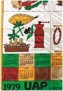 Torchon-calendrier - UAP - Union Des Assurances De Paris - Cuisine - Viande Coquillage Crustacé Poisson Charcuterie - Publicité