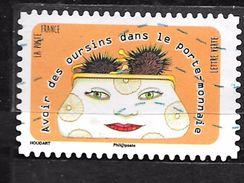 FRANCE Adhésif Oblit 1314 OURSINS DANS LE PORTE MONAIE - Adhesive Stamps