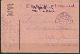 Feldpostkarte  1917 - Briefmarken