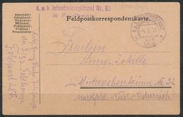 Feldpostkarte  1918 - Briefmarken
