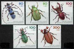 (186) Germany / Allemagne / RFA  Insects / Bucks / Scarabees / Käfer  ** / Mnh  Michel 1666-70 - [7] République Fédérale