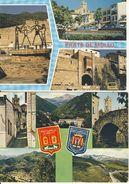 Prats De Mollo La Preste La Sardane-Porte De France-Le Firal-Rue Croix De La Mission-etc... Lot  De 2 Cpsm Format 10-15 - Autres Communes