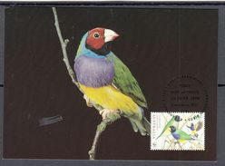 AUSTRALIA 1998 MAXIMUM CARD - BIRDS - GOULDIAN FINCH (Erythrura Gouldiae) - Vogels