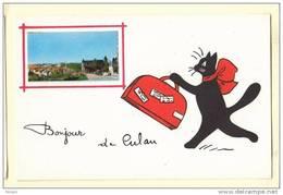 18 CULAN Chat 4 Bonjour De Culan  Illustrateur René - Culan