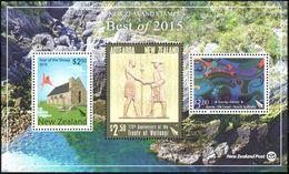 Nvlle Zélande - Best Of 2015 - Année Du Mouton - Traité De Waitangi - Matariki Kowhaiwhai ** - Blocs-feuillets