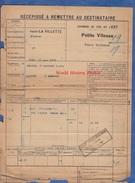 Récépissé De Transport Par Train Petite Vitesse - 1906 - De PARIS LA VILLETTE à BLESME HAUSSIGNEMONT - Chemin De Fer Est - Autres