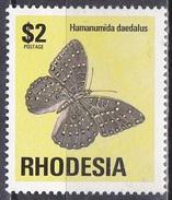 Rhodesien Rhodesia Zimbabwe 1974 Tiere Fauna Animals Schmetterlinge Butterflies Insekten Insects, Mi. 154 ** - Rhodesien (1964-1980)