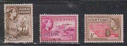 GOLD COAST Scott # 150, 151, 153 Used - QEII & Various Scenes - Costa D'Oro (...-1957)