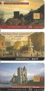 3-CARTES+-PUCE-HONGRIE-1998-THEME-MONUMENTS-TBE - Hongrie