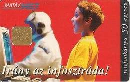 -CARTE+-PUCE-HONGRIE-1997-THEME-INTERNET-TBE - Hongrie