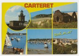 {63303} 50 Manche Carteret , Multivues ; Phare  Port  Plage  Fermes De Carteret , Vieille Chapelle , Bassin De Plaisance - Carteret