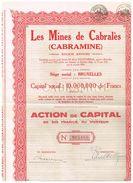 """Action Ancienne - Les Mines De Cabralès """"Cabramine"""" - Titre De 1929 - Miniere"""
