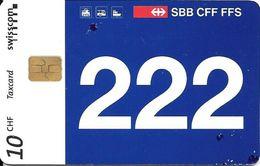 Swisscom: 12/97 SBB CFF FFS - Schweizerische Bundesbahnen, Halbtax Abo 222 - Schweiz