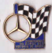 Pin's Course Automobile Mercedes-Benz, Chanpionnat Du Monde, Zamac émail, Signé Arthus Bertrand - Mercedes