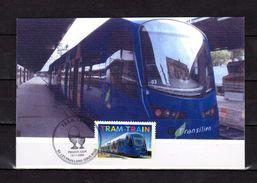 """FRANCE 2006  """" LE TRAM-TRAIN """" Sur Carte Maximum Souple. N° YT 3985. Parf état. CM - Tramways"""
