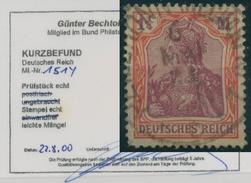 Deutsches Reich 1920 Germania Mit Vierpass WZ 151 Y Gestempelt Geprüft - Used Stamps