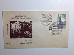Sobre Ferrocarril Ferrol-Gijón 1972 FEVE - España