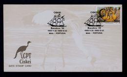 Descobrex'89 Maia CISKEI 1989 Ships Boats Discoveries Portugal Sp4968 - Variétés Et Curiosités