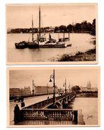 """64 - BAYONNE . """" Le Pont Saint-Esprit Et L'Adour """" & """" Les Bords De L'Adour """" . 2 CARTES POSTALES - Réf. N°6369 - - Bayonne"""