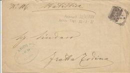 Perugia 23.2.1898 Su Sassone N. 65 Per Fratta Todina. Al Retro Annullo Tondo Riquadro Todi 24.2.1898 In Arrivo. - 1878-00 Umberto I