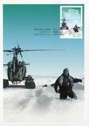 """Entier Postal De 2012 Sur CP Avec Timbre Et Illust. """"Hélicoptère Et Phillip Law"""" - Oblit. PJ 06 Mars 2012"""" - Maximumkaarten"""