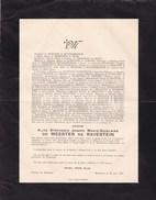 ZEMST-LAAR RYMENAM Alice De MEESTER De RAVESTEIN Casteau 1873 Château De Hollaeken 1943 - Décès