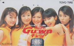 Télécarte Japon / 110-016 - FEMME & Pub PNEU - WOMAN Girl & TOYO TYRE Adv. Japan Phonecard - FRAU & REIFEN Werbung  3331 - Publicité