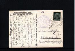 Germany / Deutschland 1939 Schiffspost T.S. Kaiser Interessante Postkarte - Allemagne