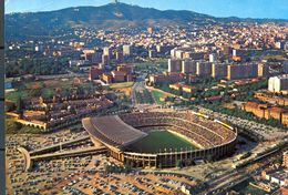 1978 , TARJETA POSTAL CIRCULADA  , EL NOU CAMP DEL FÚTBOL CLUB BARCELONA - Fútbol