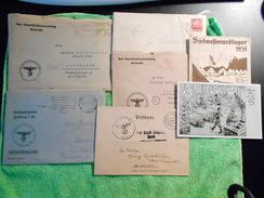 Lot De Lettres Et Papiers Allemand WW2 - Dokumente