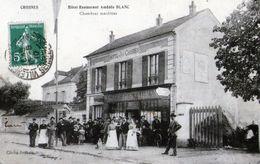 D96 - CROSNES - Hotel Restaurant AmédéeBLANC ( Chambres Meublées ) , Cliché Francis . - Crosnes (Crosne)