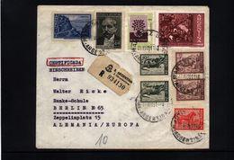 Argentina Interesting Registered Letter - Argentinien