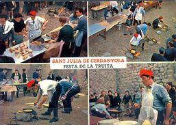 TARJETA POSTAL NO CIRCULADA , GASTRONOMIA , SANT JULIÁ DE CERDANYOLA , FESTA DE LA TRUITA - Recetas De Cocina