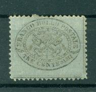Etats Pontificaux 1868 - Y & T. N. 20 - Armoiries 3 Centimes - Etats Pontificaux