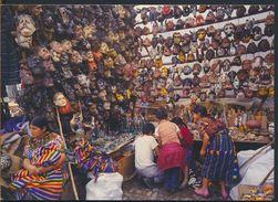 °°° 9772 - GUATEMALA - CHICHICASTENGO - PUESTOS DE MASCARAS - 2003 With Stamps Mexico °°° - Guatemala