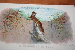 CPA Fable De La Fontaine Le Renard Et Le Bouc  Collection Kolarsine Et Pautauberge - Contes, Fables & Légendes