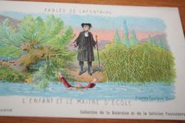 CPA Fable De La Fontaine L'enfant Et La Maitre D'école Collection Kolarsine Et Pautauberge - Contes, Fables & Légendes