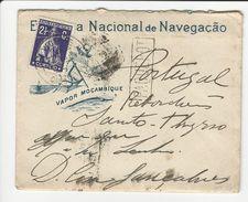 Cover * Cabo Verde * 1914 * Vapor Moçambique * Paquebot * Empresa Nacional De Navegação - Postembleem & Poststempel