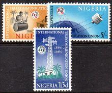 XP3721 - NIGERIA 1965 , Serie Yvert N. 171/173 ***  ITU - Nigeria (1961-...)