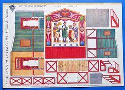 Gioco Vintage Costruzione Bemporad - Serie I Tav. 3 - Teatro Burattini  1930 Ca. - Giocattoli Antichi