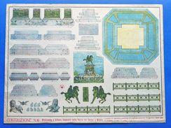 Gioco Costruzione N° 6 Marca Stella - Monumento Vittorio Emanuele - 1930 Ca. - Giocattoli Antichi